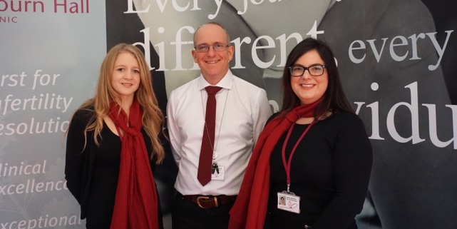 Embryologists Jemma Clarke, Martyn Blayney and Laura Jameson