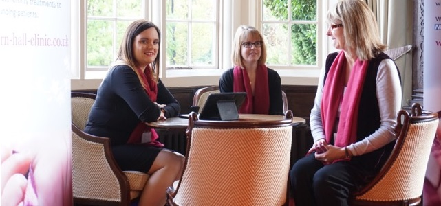 Bourn Hall's Tanya Turner, Rebecca Ward and Nicola Graver