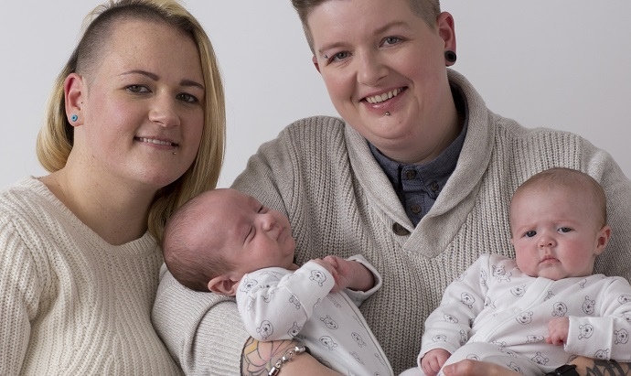 Sperm bank helps couple overcome fertility issues and become mums