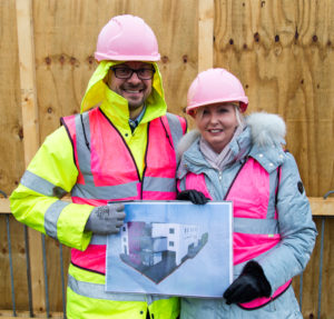 James Hillyard and Sarah Pallett with the Bourn Hall Wickford plans