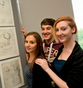 Laura, Matthew and Sarah Dower at the launch of Bourn Hall Wymondham - providing Norfolk IV