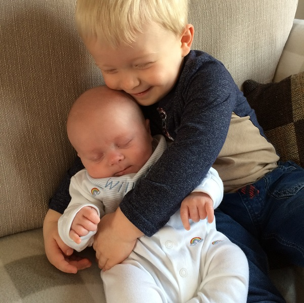 William with his older brother Thomas nearly two years ago