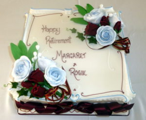 Rosie and Margaret's retirement cake