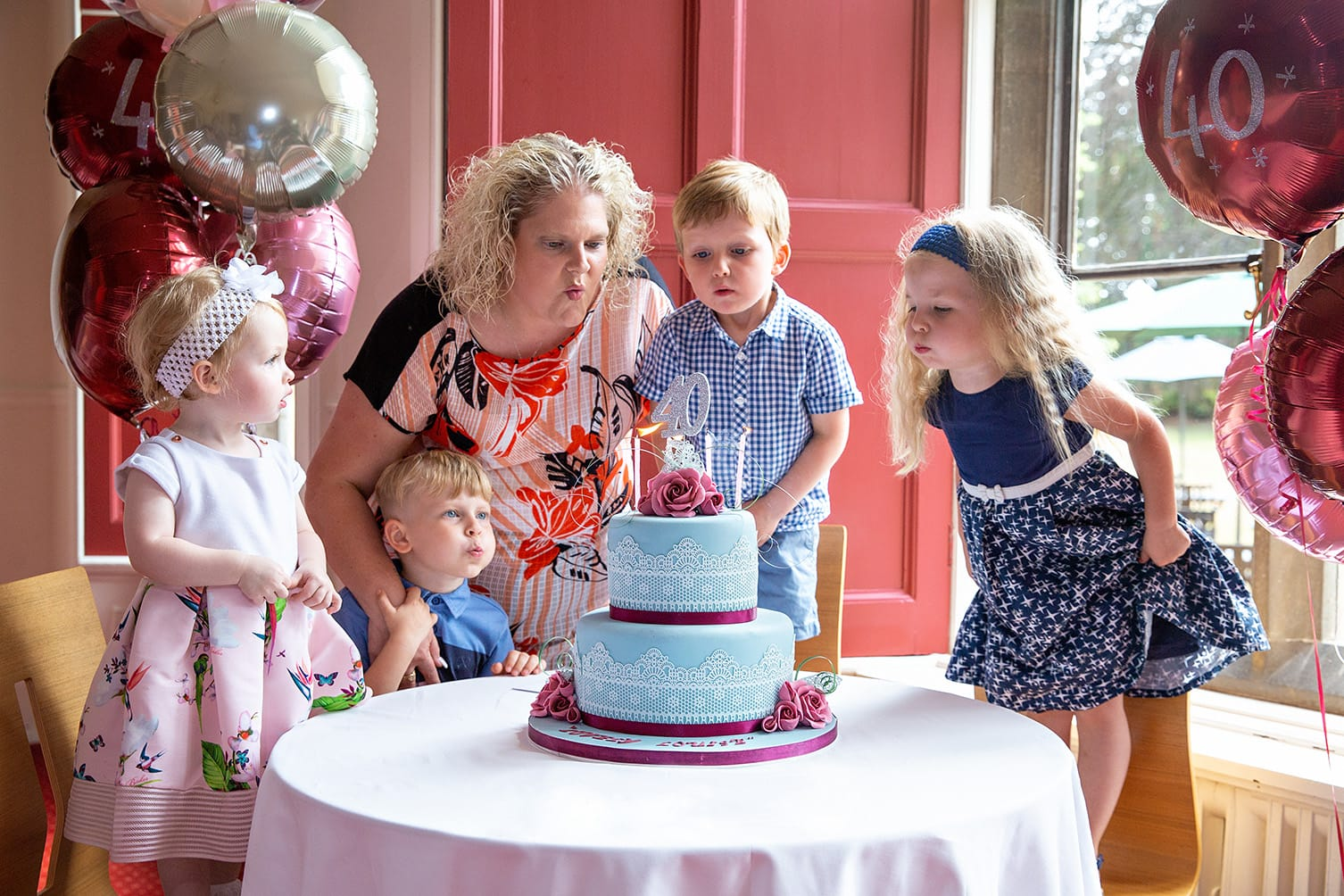 Louise Brwon celebrates her 40th birthday at Bourn Hall