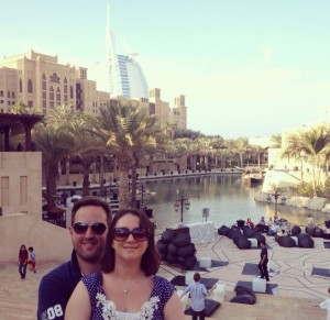Us in Dubai, 2012, where we went on holiday to get over our first IVF failure