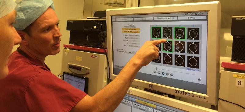 Eeva embryo monitoring in use at Bourn Hall