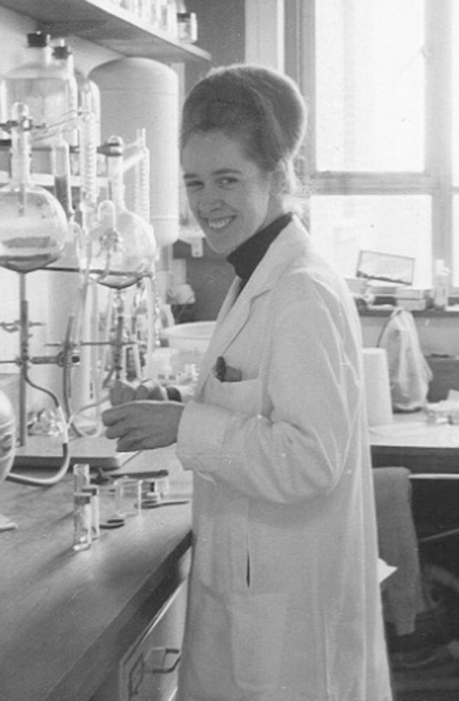 Jean Purdy in the laboratory
