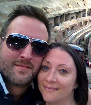 Me and my good egg – we became much closer during the IVF process