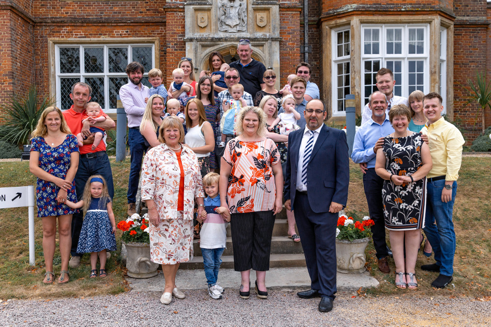 Some of the Bourn Hall family with (front, L-R) Grace MacDonald, Louise Brown, Dr Thanos Papathanasiou
