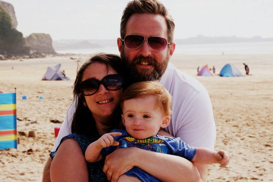 The three of us in Cornwall this summer