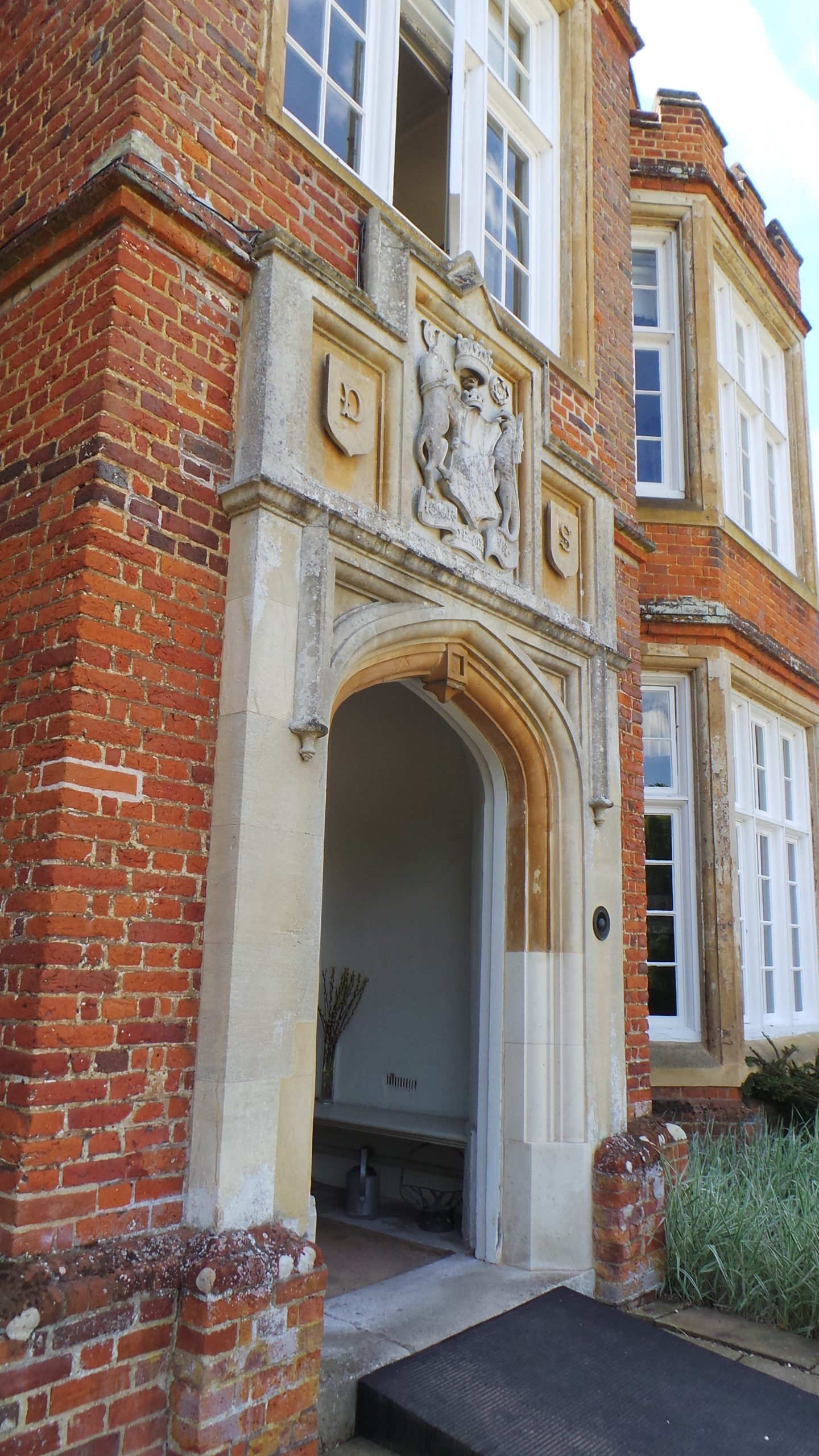The front door at Bourn Hall