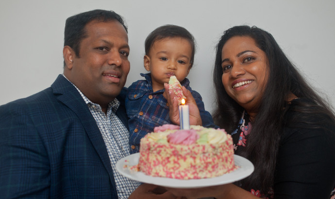 Cambridgeshire couple celebrate first birthday of their IVF 'miracle'