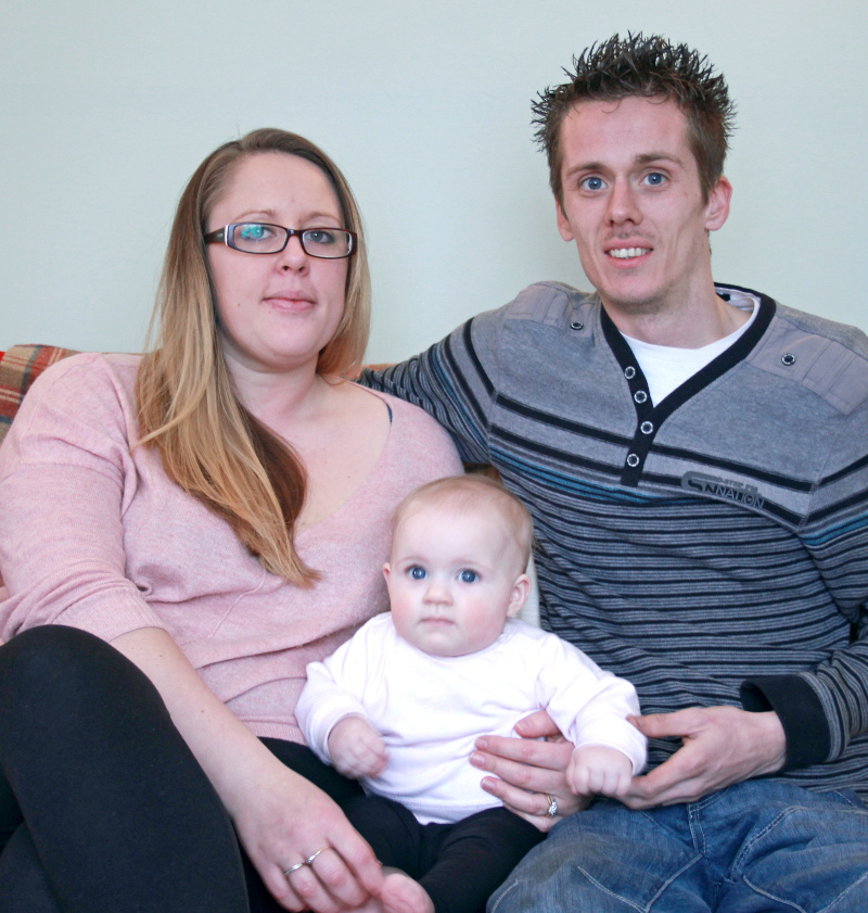 Nicola, Terry and baby Sydney