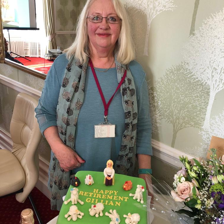 Carousel - Gillian with cake