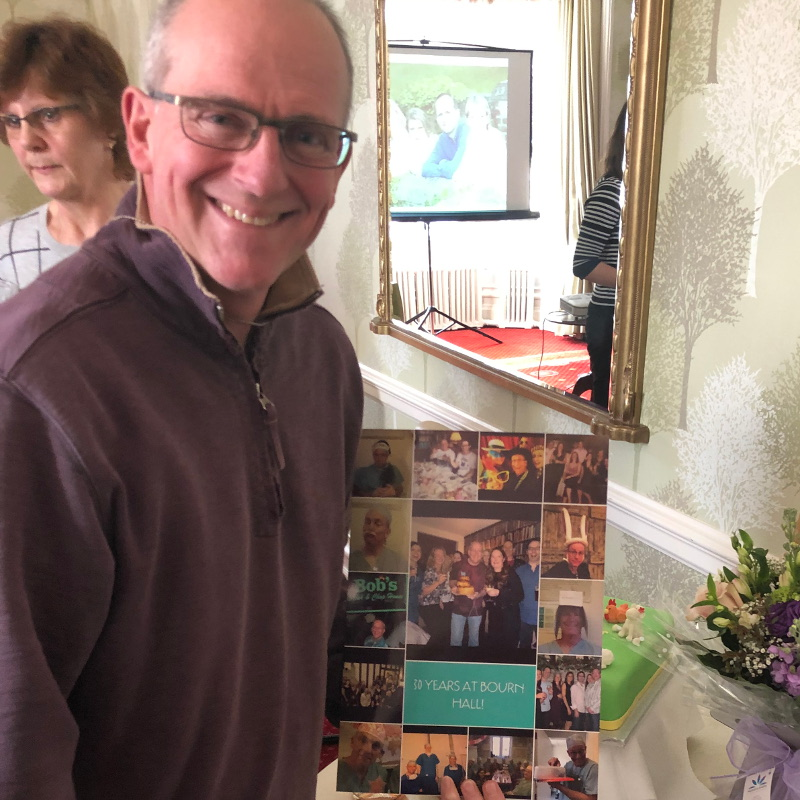 Carousel - Martyn Blayney with his 30th anniversary card