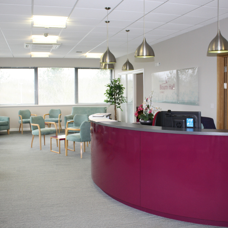Reception at Bourn Hall Clinic Norwich