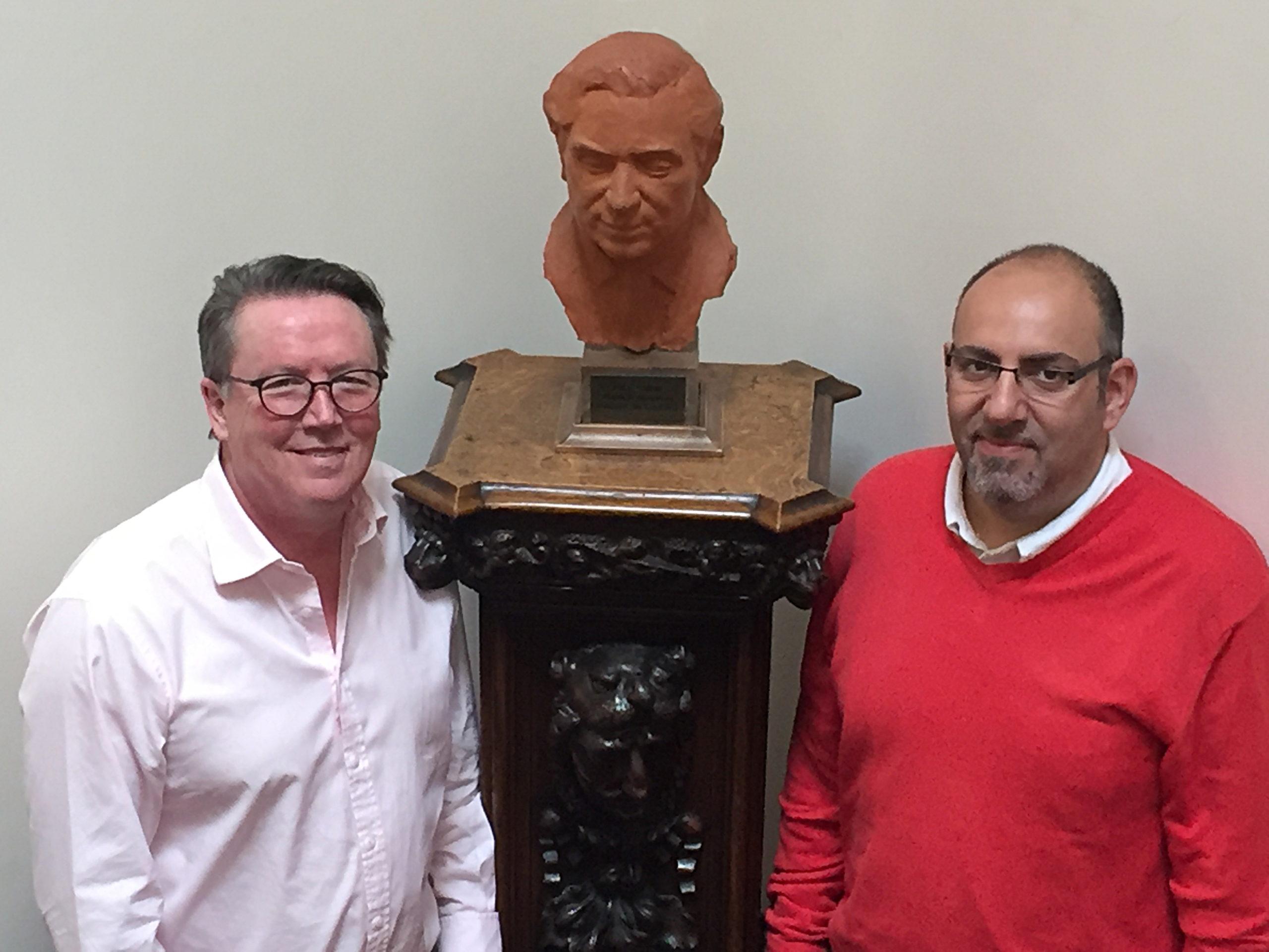 Bust of Patrick Steptoe at Bourn Hall Cambridge