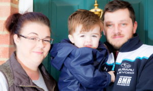 Donna and Chris with son Ronnie IVF postcode lottery