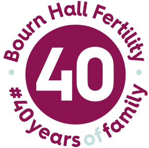 40 years of Bourn Hall logo