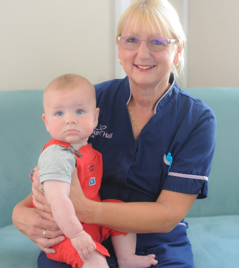 Carol Steel with Arthur, a Bourn Hall King's Lynn baby