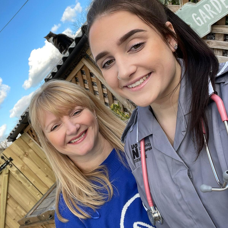 Janellan and Ellie trainee midwife
