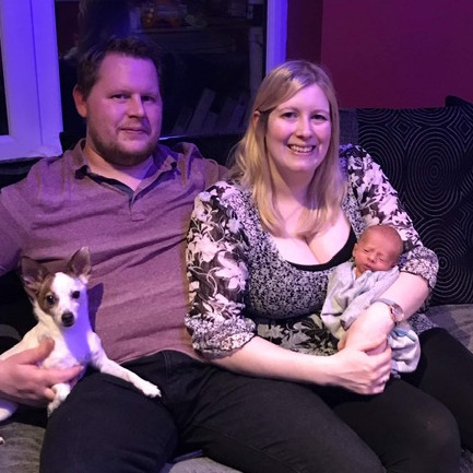 Adam and Tasha with Matthew