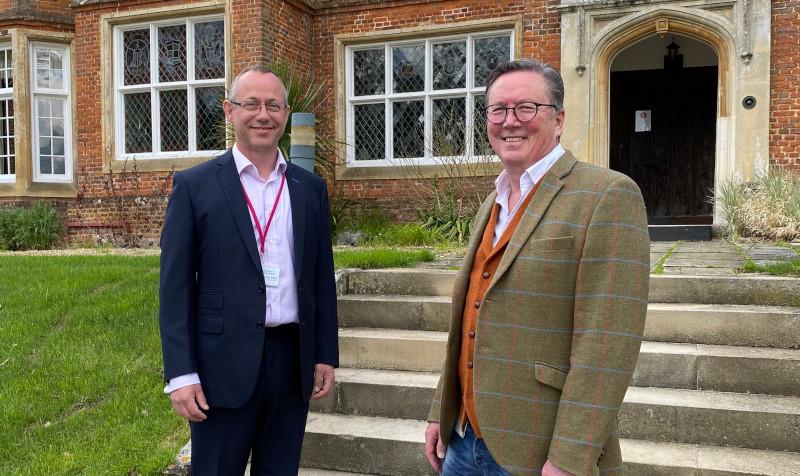 John Arthur Finance Director and Mike Macnamee