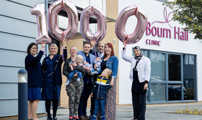 Bourn Hall Norwich staff and patients celebrate the arrival of 1000 babies